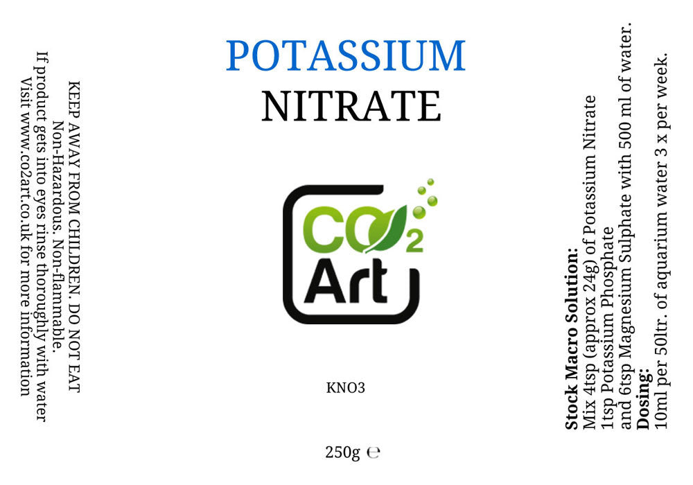 Nitrato di potassio (KNO3) - CO2Art.co.uk | Acquario CO2 Systems e Aquascape Specialists - 2