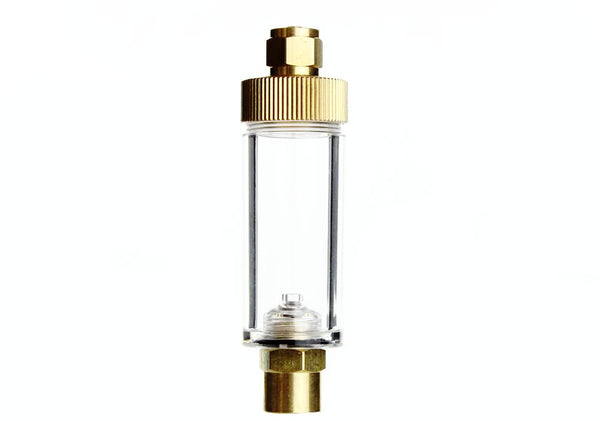 High Quality Brass Aquarium CO2 Bubble Counter for Solenoids and Regulators