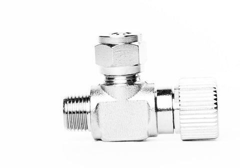 Aquarium Brass CO2 Needle Valve with 1/8 NPT male thread for solenoids and regulators - CO2Art.co.uk | Aquarium CO2 Systems and Aquascape Specialists  - 1