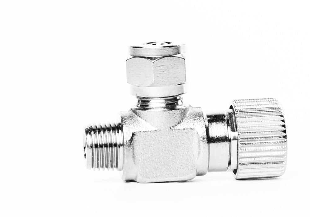 Aquarium Brass CO2 Needle Valve med 1 / 8 NPT mansgänga för solenoider och regulatorer - CO2Art.co.uk | Akvarium CO2-system och Aquascape-specialister - 2