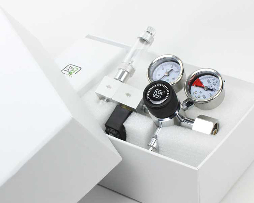 Pro-Elite-serien Den mest avancerede akvarium CO2 Dual Stage Regulator Packaging