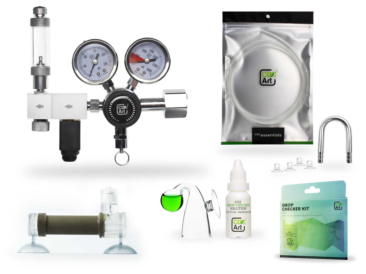 Pro-Elite Series Complete Aquarium CO2 System with in-tank Flux_ Diffuser (PRE-ORDER: EXPECTED TO SHIP END OF JUNE 2021)