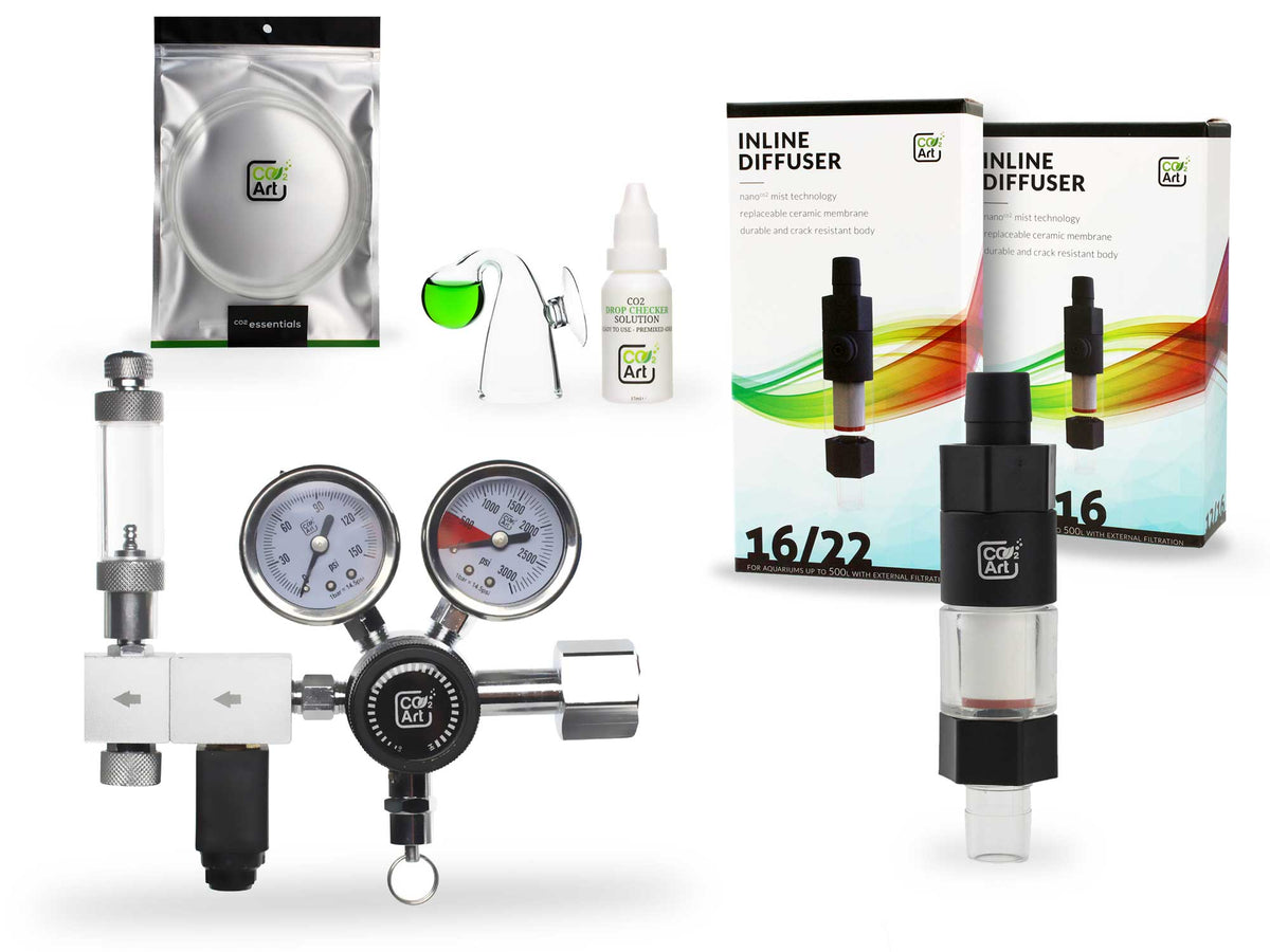 (PRE-ORDER: EXPECTED TO SHIP MID-JANUARY 2021) Pro-Elite Series Complete Aquarium CO2 System with New Inline CO2 Diffuser