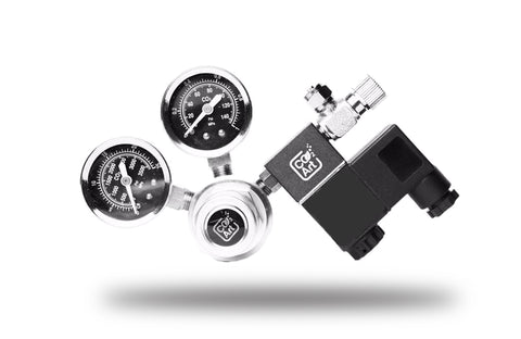 Single Stage Aquarium CO2 Regulator with two Gauge and integrated Solenoid Magnetic Valve