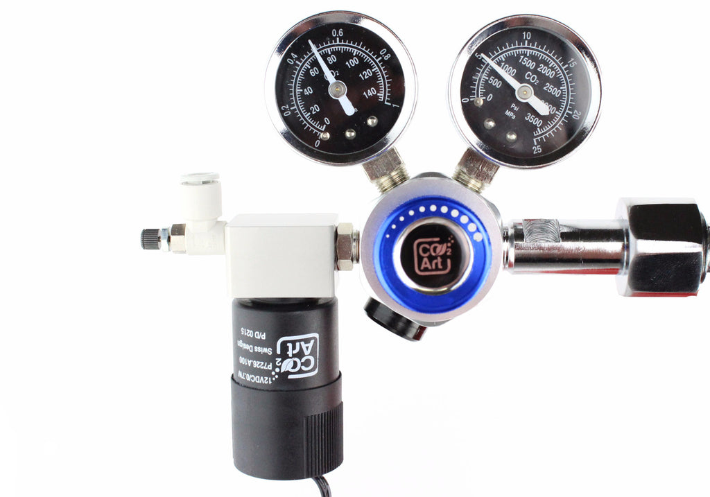 Professional Aquarium CO2 Dual Stage Regulator with Advance Swiss Solenoid and SMC Valve