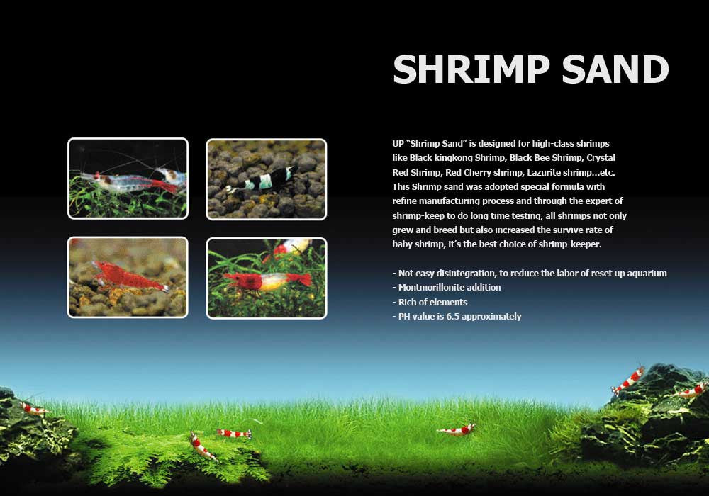 UP Aqua Shrimp Sand - 2kg - CO2Art.co.uk | Aquarium CO2 Systems and Aquascape Specialists