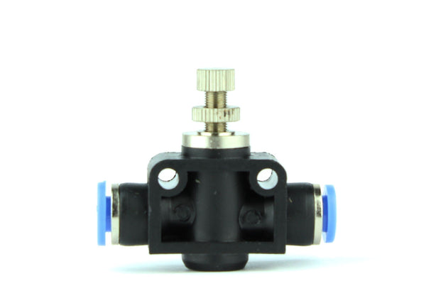 Enkelt tryck in 6mm Aquarium Air Pump / CO2 Speed ​​Control Valve