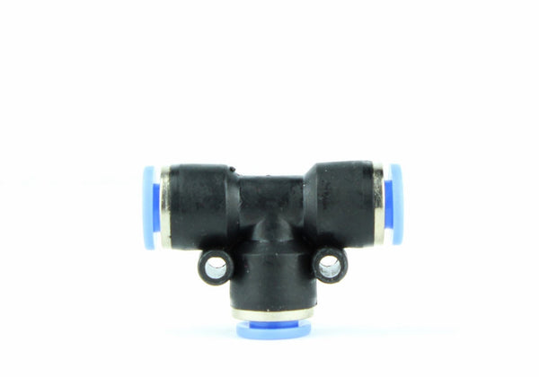Eenvoudig in te drukken Aquarium Air / CO2 2-Way Splitter Connector 6mm