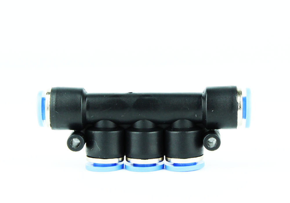 Facile à enfoncer Aquarium Air / CO2 5 Connecteur de vanne à clapet Splitter 6mm - CO2Art.fr | Aquarium CO2 Systems et Aquascape Specialists