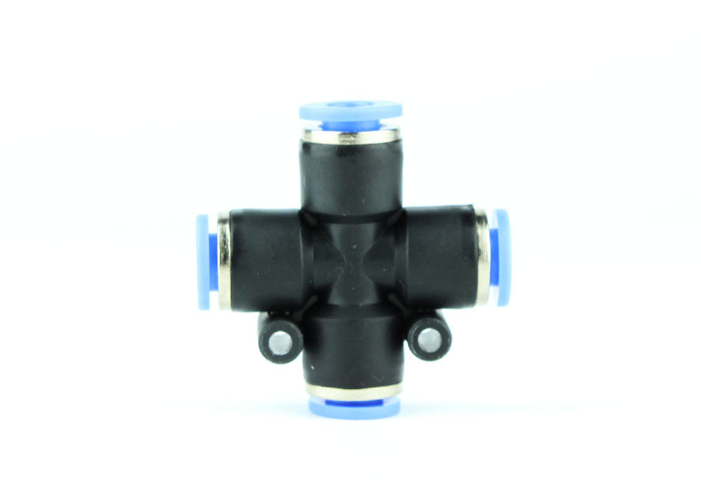 Ușor de împingere cu aer Aquarium / CO2 4 Conector de distribuție a supapei de cale 6mm - CO2Art.co.uk | Soluții de acvariu CO2 Systems și specialiști Aquascape