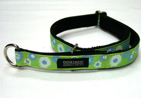 Green with Blue & White Daisy Limited Slip