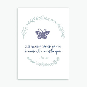 Christian greeting card Cast All Your Anxiety