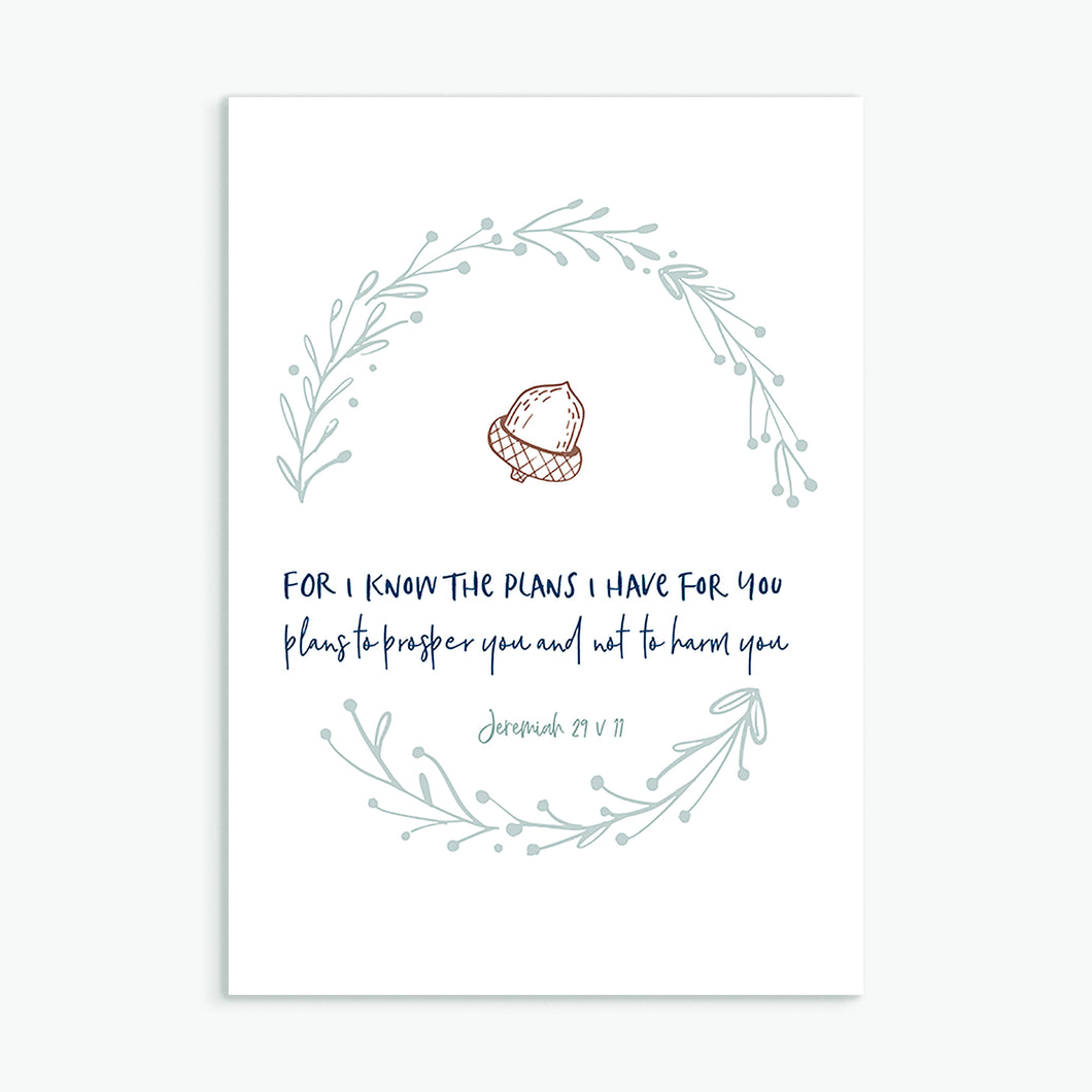 For I know the plans greeting card