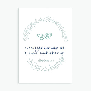 Encourage one another greeting card