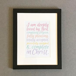'Deeply Loved' (calm mix) by Preditos - Framed Print