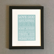 Load image into Gallery viewer, 'Love God' (blue) by Preditos - Framed Print
