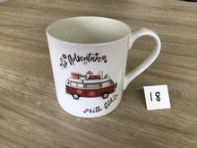 Load image into Gallery viewer, Wonkey Mug - 18 (Go Adventure fine bone china mug)