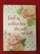 Load image into Gallery viewer, 'God is with her, she will not fall' Journal