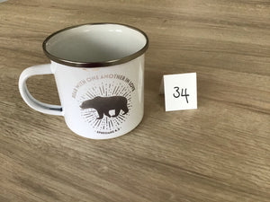 Wonkey Mug - 34 (Bear with one another in Love enamel mug)
