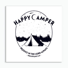 Load image into Gallery viewer, Happy Camper - square greeting card