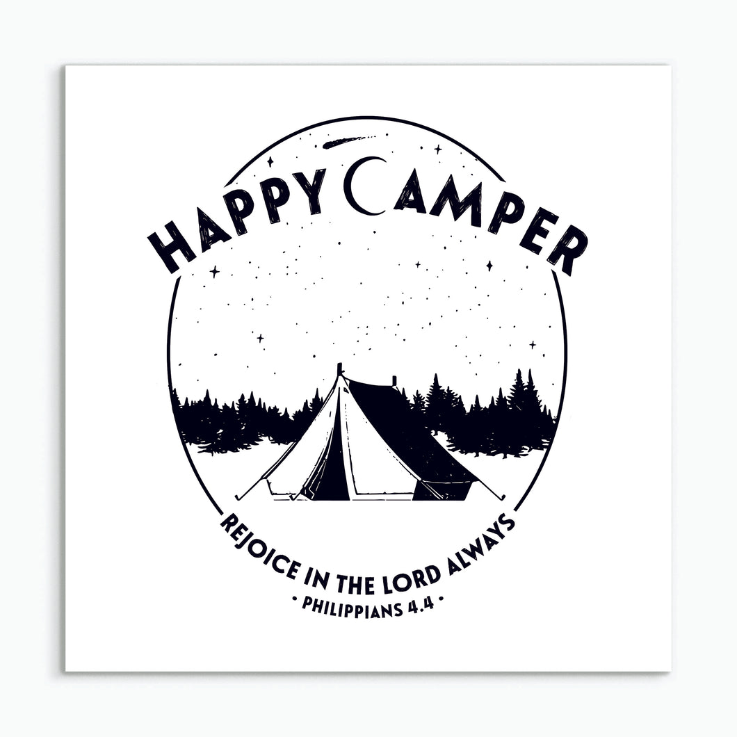 Happy Camper - square greeting card