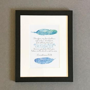 'Always Give' by Preditos - Framed Print