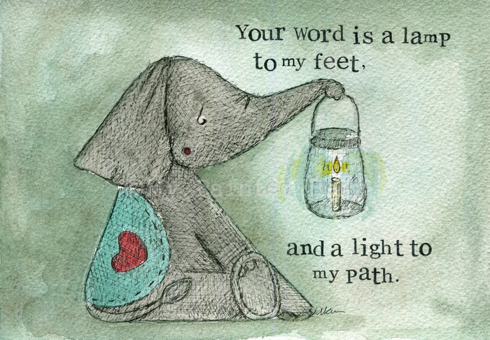 Your Word is a Lamp to my Feet mounted print - My Painted Bear