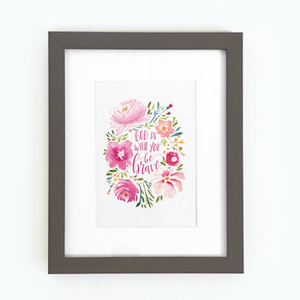 'God is With You, Be Brave' by Emily Burger - Framed Print