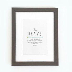 'Be Brave' (Arrow) - Framed Print