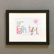 Load image into Gallery viewer, 'Beautiful' by Emily Burger - Framed Print