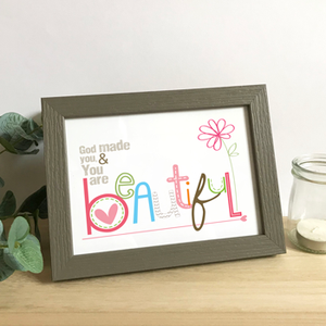 'Beautiful' by Emily Burger - Framed Print