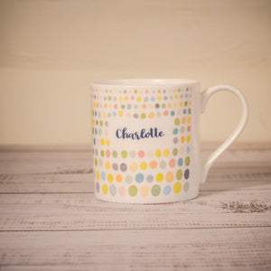 """Be Strong and Courageous"" fine bone china mug... with personalised option"