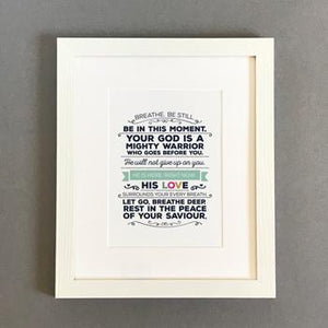 'Breathe' by Emily Burger - Framed Print