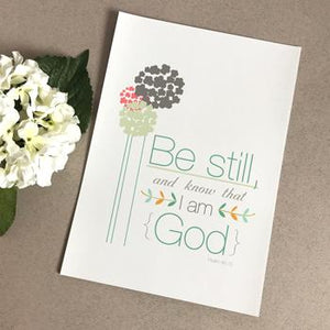 'Be Still' by Emily Burger - Print