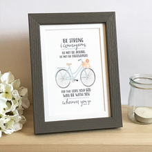 Load image into Gallery viewer, 'Be Strong' (Bicycle) by Emily Burger  - Framed Print