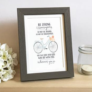 'Be Strong' (Bicycle) by Emily Burger  - Framed Print