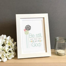 Load image into Gallery viewer, 'Be Still' by Emily Burger - Framed Print