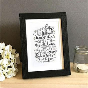 'But those who hope' - Framed Print