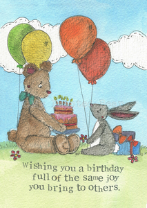 Birthday Joy - greeting card