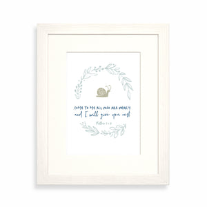Come to me all who are weary framed print