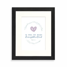 Load image into Gallery viewer, He heals the wounds of every shattered heart framed print