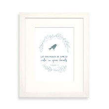 Load image into Gallery viewer, Let the peace of Christ rule in your hearts framed print