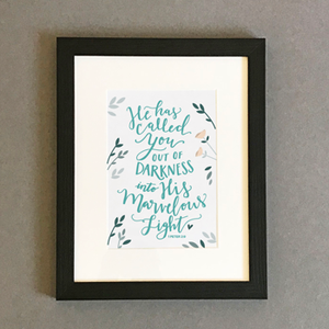 'He Has Called You' by Emily Burger - Framed Print