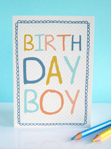'Birthday Boy' Birthday Card