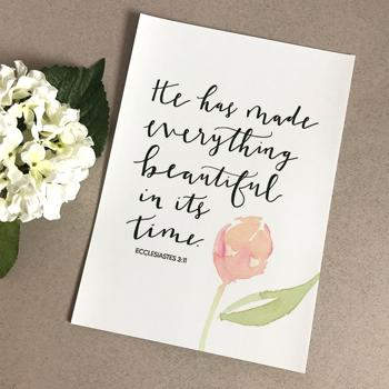 'He Has Made Everything Beautiful' by Emily Burger - Print