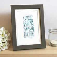 Load image into Gallery viewer, 'Commit To The Lord' by Emily Burger - Framed Print