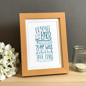 'Commit To The Lord' by Emily Burger - Framed Print