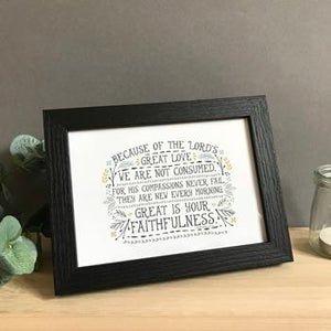 'Faithfulness' by Emily Burger - Framed Print