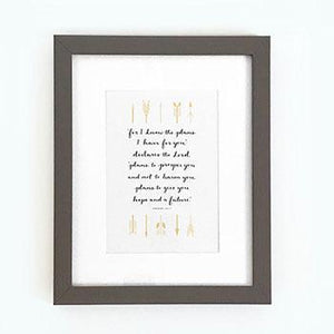 'For I know the plans I have for you' (Arrows) - Framed Print