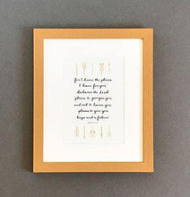 Load image into Gallery viewer, 'For I know the plans I have for you' (Arrows) - Framed Print
